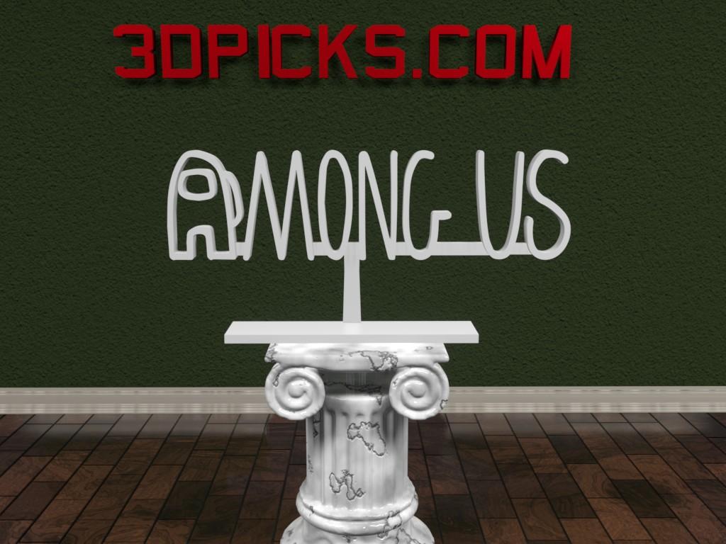 Among Us Logo 3dpicks